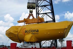 acciona wind turbine nacelle