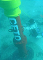 Carnegie CETO wave energy buoy and pump