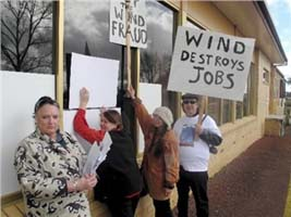wind farm demostration