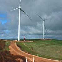 large wind farm contruction