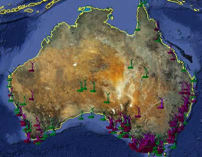 Australian Wind Farm Project Map