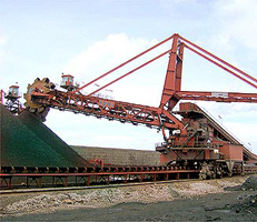 Coal reclaimer stacker