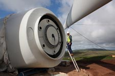 suzlon wind turbine construction